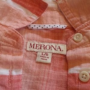 Merona Tops - Marona half button shirt